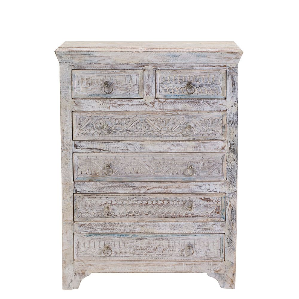 The little tree furniture whiteleaf chest of drawers has been
