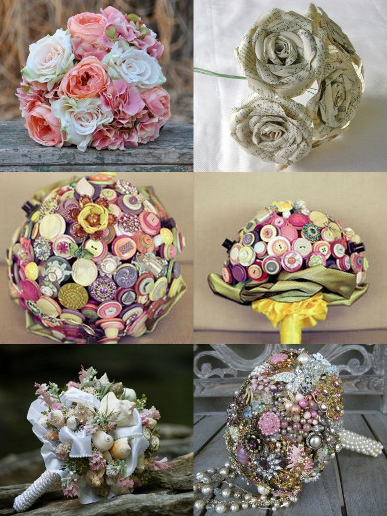 Wedding Bouquets: Alternatives to Fresh Flowers