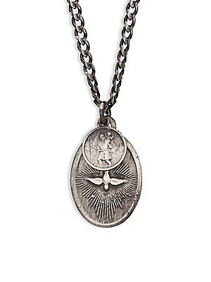 Miansai sterling silver dove pendant necklace silver size no miansai sterling silver dove pendant necklace silver size no size aloadofball Image collections