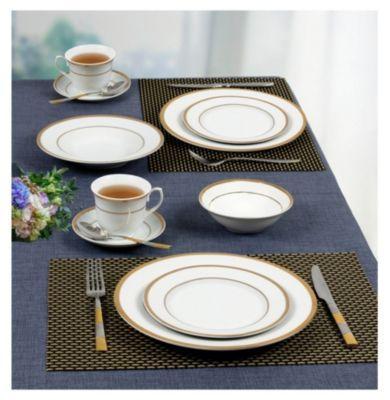 Lorren Home Trends Josephine 57 Pc Dinnerware Set Service For 8 Reviews Fine China Macy S Dinnerware Home Trends Dinnerware Sets For 12