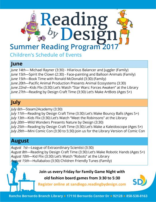 Summer Reading Programs @ RB Library : Family Events ...