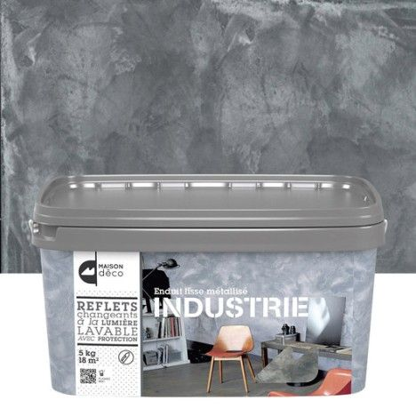 Enduit Decoratif Industrie Maison Deco Fonte 5 Kg Salon Mezzanine Enduit Decoratif Deco