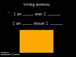 Writing Sentences Practice Video
