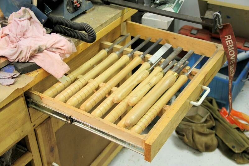 Lathe chisel drawer Wood turning, Wood turning projects