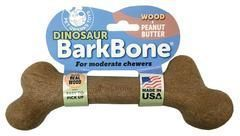 Interactive Dog Toys Exercise Dinosaur BarkBone Wood with Peanut Butter Flavor Dog Chew Toy, Made in USA