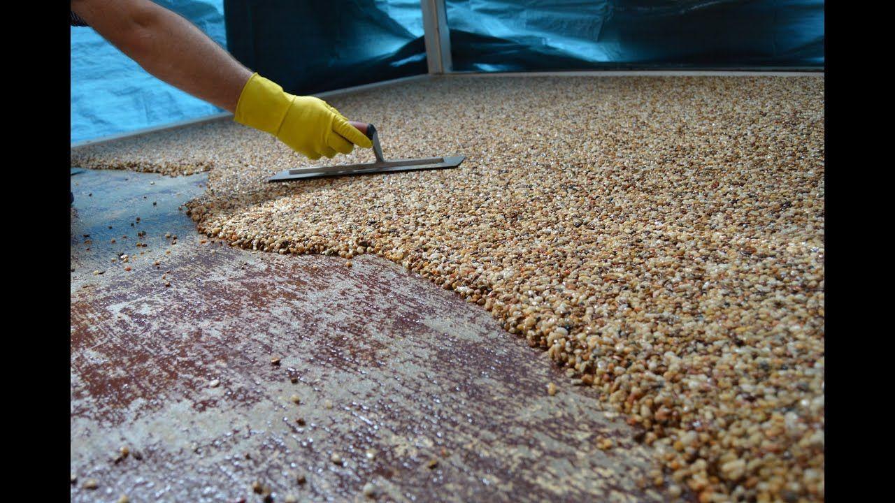 HowTo Install Epoxy Natural Stone Flooring Epoksi