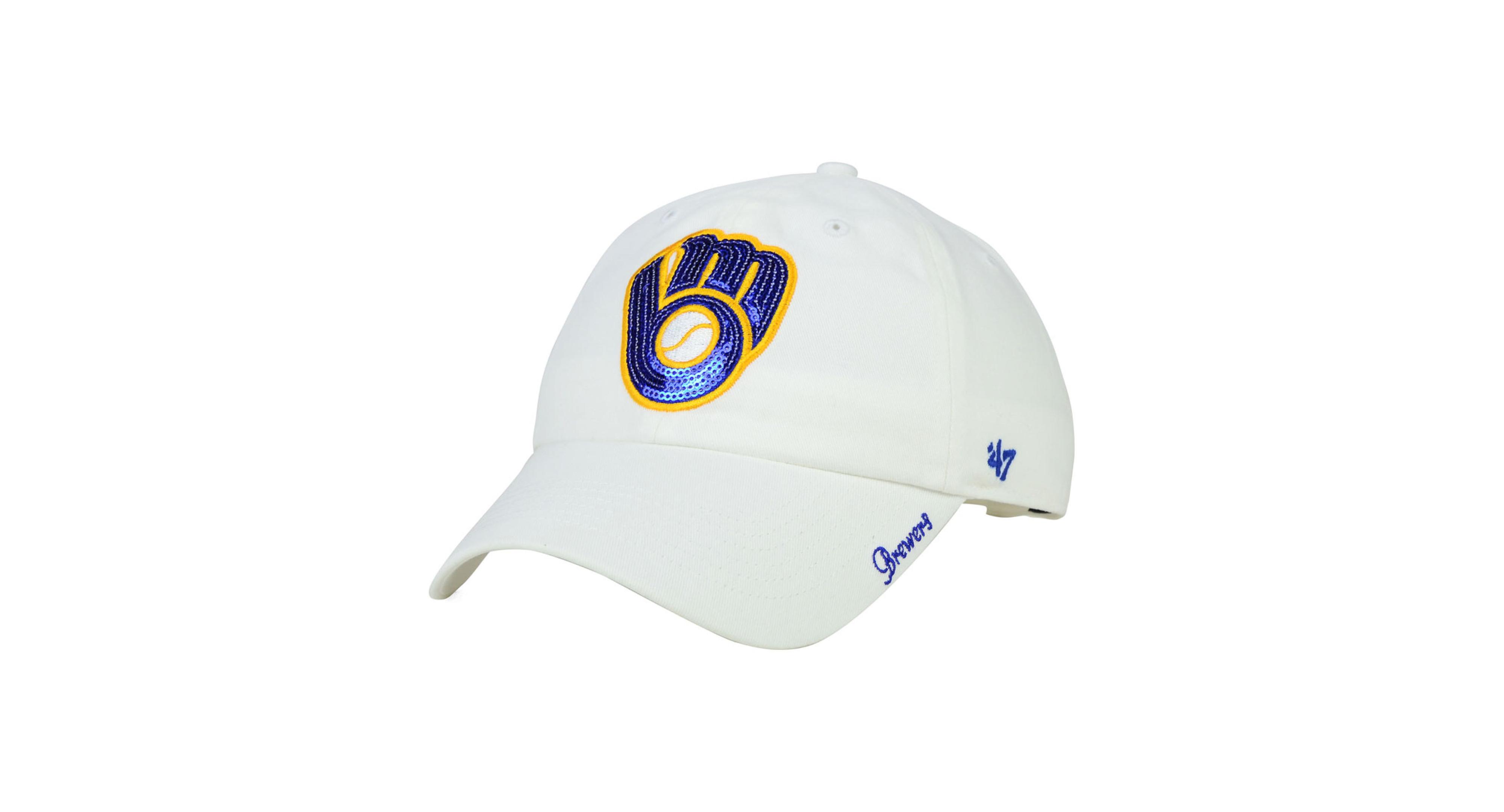 watch 675c0 429cb  47 Brand Women s Milwaukee Brewers Adjustable Clean Up Cap.