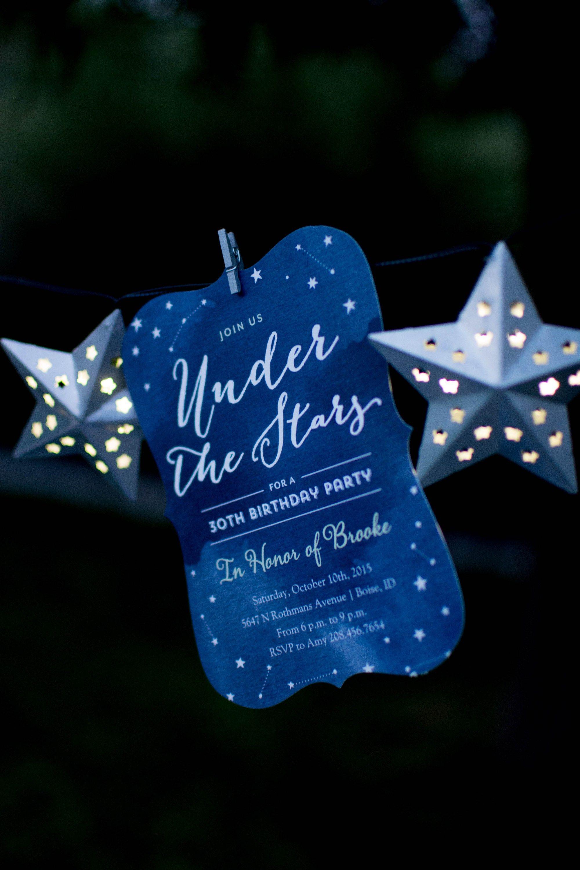 Under the Stars Birthday Celebration Star birthday party