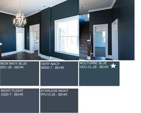 Hallway Paint Color Nocturne Blue Hdc Cl 28 Behr Hallway Paint
