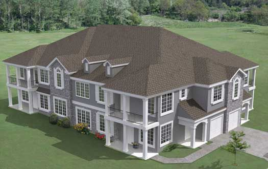 Traditional Style House Plans 10036 Square Foot Home 2 Story 20 Bedroom And 20 Bath 4 Garage Stalls By Family House Plans House Plans Monster House Plans