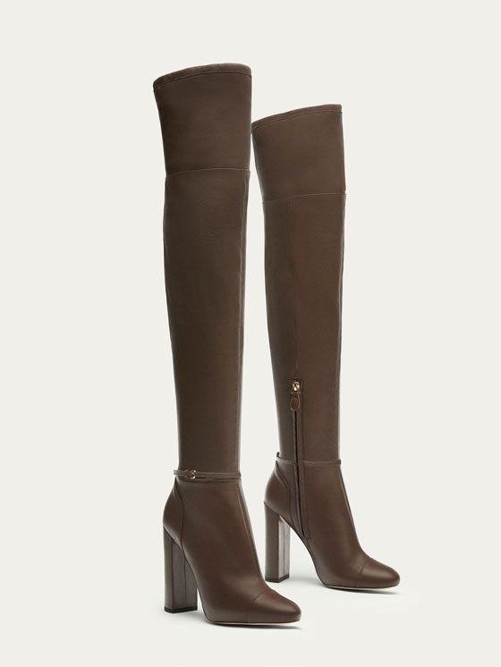 b9d417525 BOTA PIEL NAPA XL TAUPE de MUJER - Zapatos - Ver todo de Massimo ...