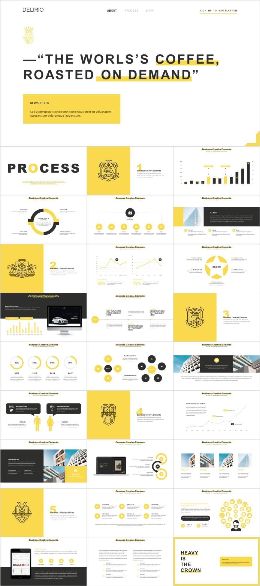 Yellow Website Analysis Powerpoint Template Pcslide Com Powerpoint Presentation Infographic Ppt Powerpoint Templates Website Analysis Presentation Design