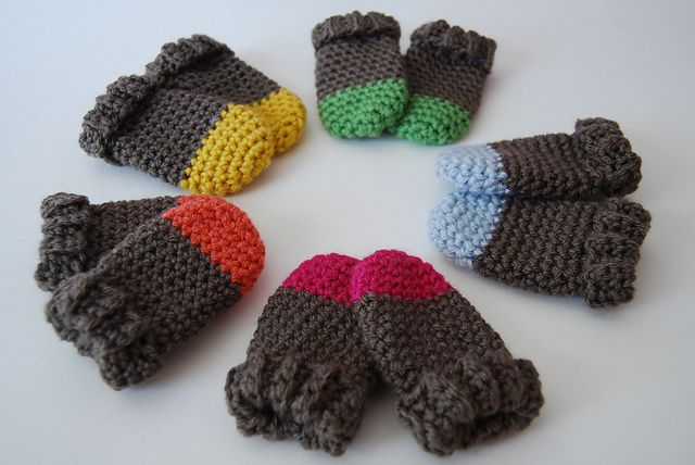 Thumbless Baby Mittens Super Fast Used 6mm Hook For Hand 5mm For