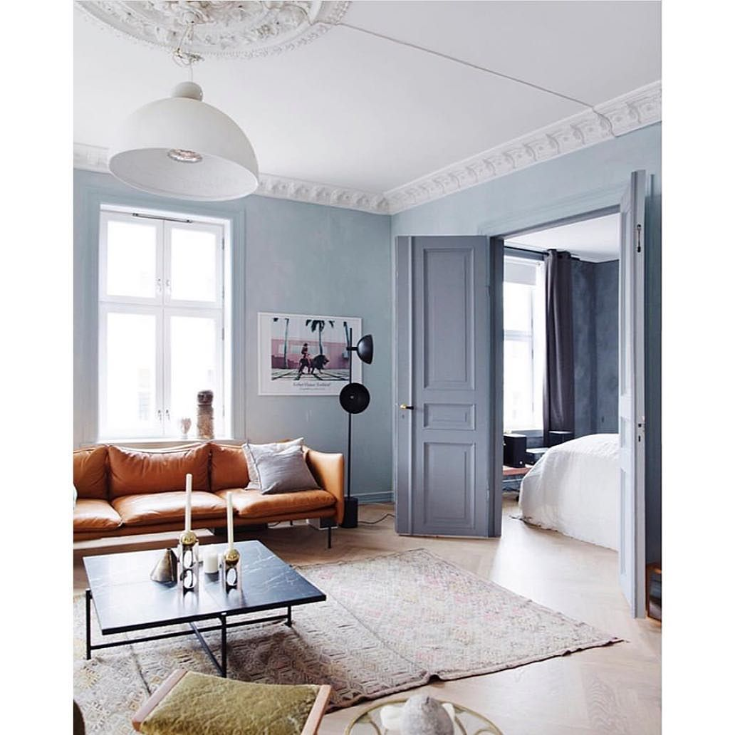 Lovely Blue Colors At Jthorese S Home Styling By Tonekrok Photo By Wilhelmsenyvonne Light Blue Living Room Blue Living Room Light Blue Walls