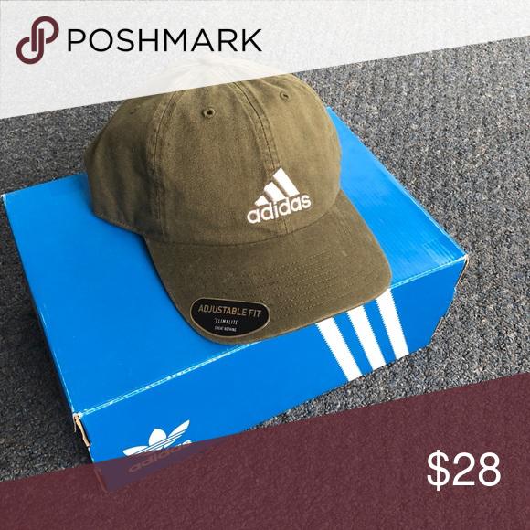 7a384974278ed Adidas Baseball Hat - Adjustable Men s Classic adidas. Army green  adjustable baseball cap. Brand