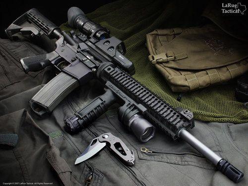 Colt M4 Carbine (SOPMOD style)  One of my favorite rifles besides