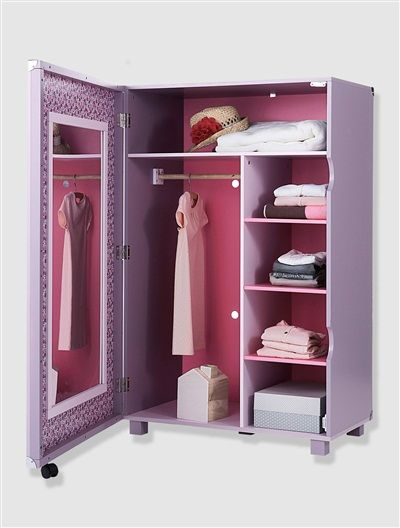 armoire dressing fille th me princesse violet vertbaudet enfant deco chambre enfant. Black Bedroom Furniture Sets. Home Design Ideas