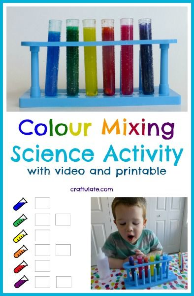 Colour Mixing Science Activity