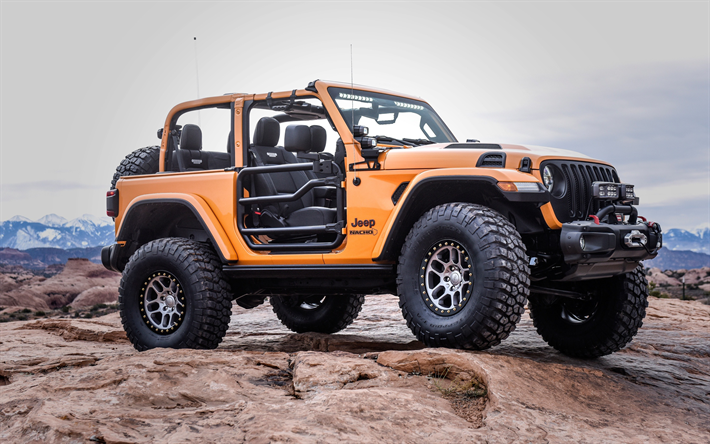 Jeep Wrangler 2018 Nacho Concept Orange Suv American Cars Exterior New