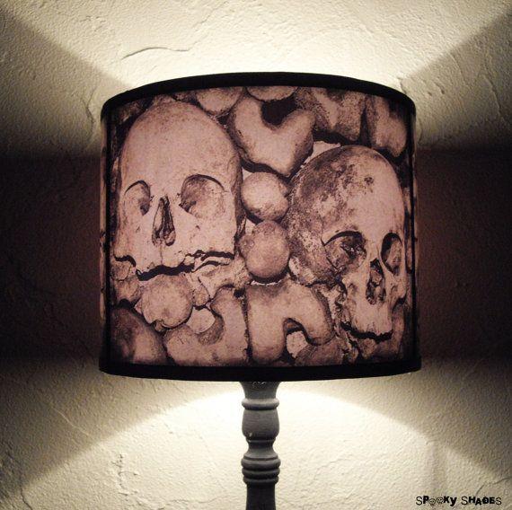 Skull lamp shade lampshade paris catacombs lightinghome decor paris catacombs skull lamp shade lampshade home decor lighting halloween decor skulls aloadofball Image collections