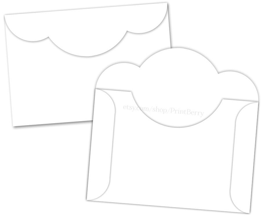 X Envelopes Printable Envelope Template Digital Download Printable