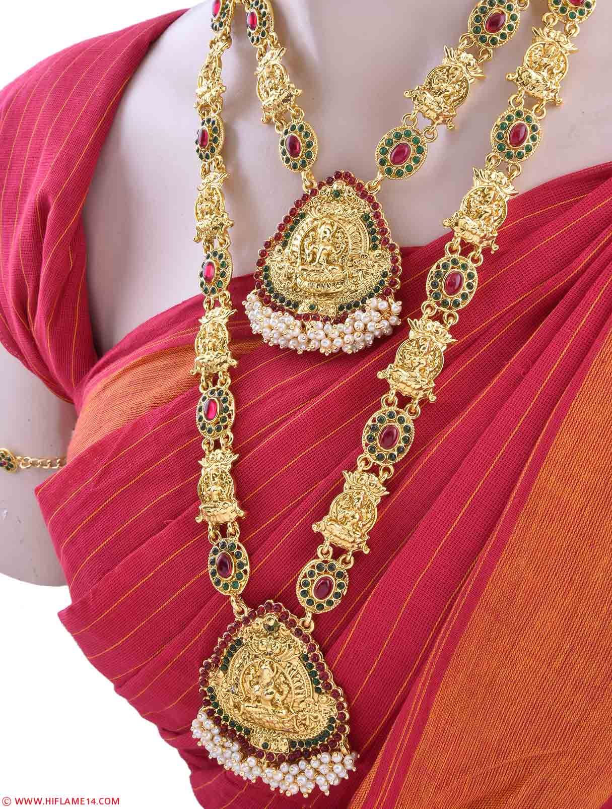 Mahalakshmi Gold Plated Traditional Bridal Set Indian Bridal