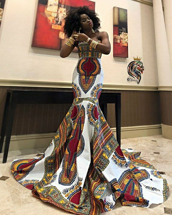 African Ladies prom dress African Clothing Dashiki Ladies Gown African Dress #fashion #clothing #shoes #accessories #womensclothing #dresses (ebay link) #africandressstyles