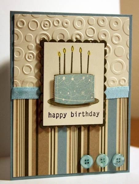 Birthday card nursing home rehab cards pinterest male masculine birthday cake card by rbright cards and paper crafts at splitcoaststampers bookmarktalkfo Gallery