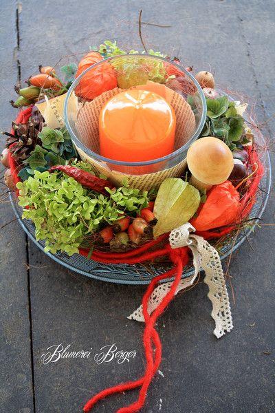 ::::+Tischdeko++Herbstlaune++::::+von+::::::::+Blumerei+Berger+::::::::+auf+DaWanda.com #herbsttischdekorationen