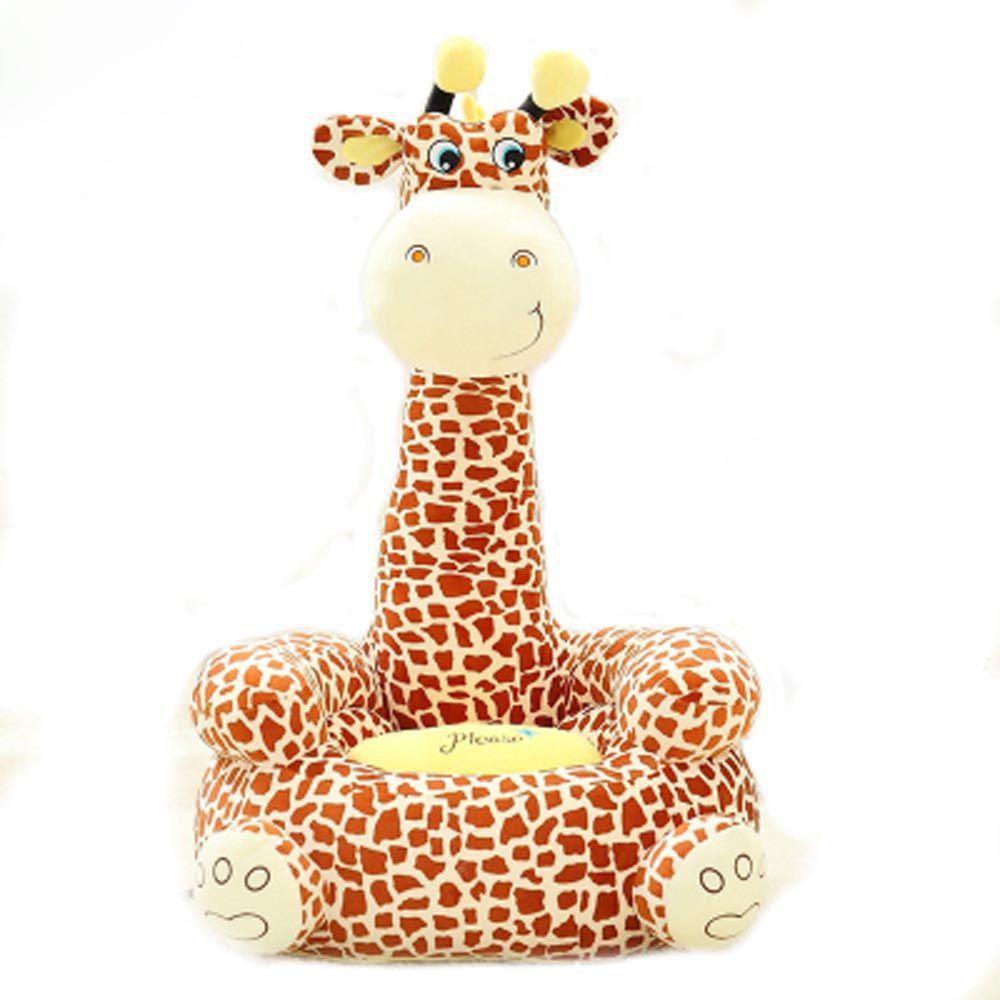 Sofa Cover Sofa Baby Seat Beanbag Cartoon Kawaii Cute Giraffe Children Sofa for Kids Sleeping Bed Baby Nest
