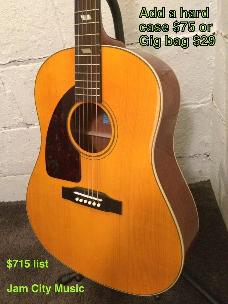 Epiphone Inspired By 1964 Texan Left Handed Acoustic Electric Guitar By Gibson Acoustic Electric Guitar Electric Guitar For Sale Acoustic Electric