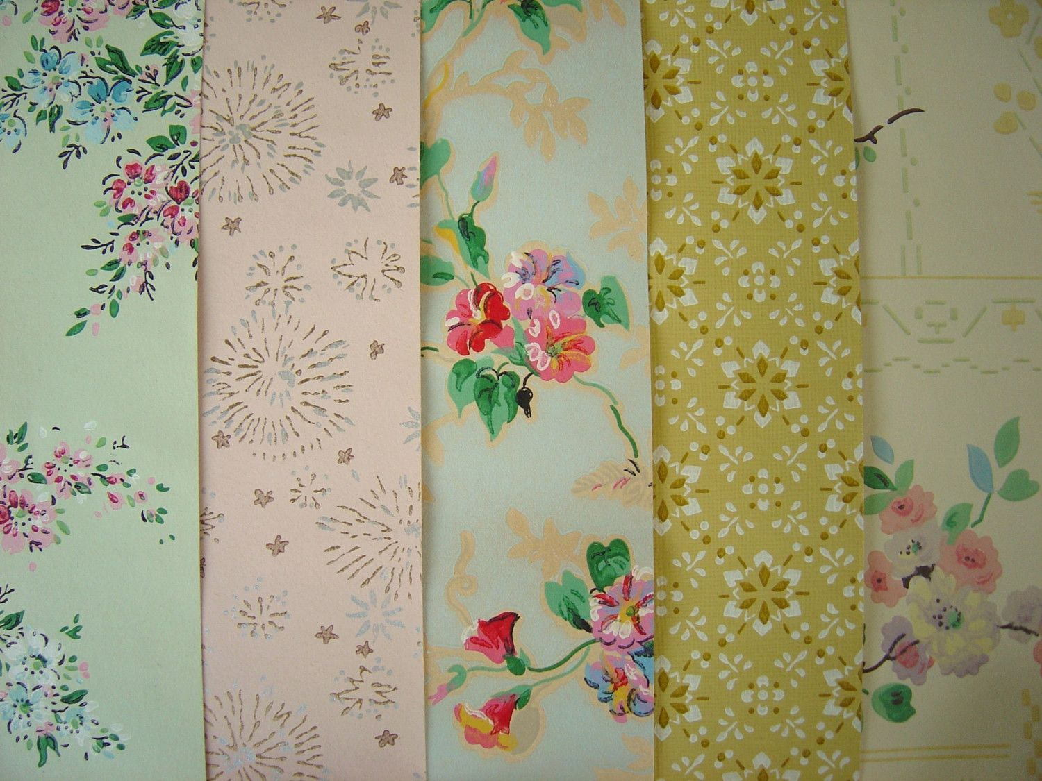 Green watercolor leaves Removable wallpaper Selfadhesive