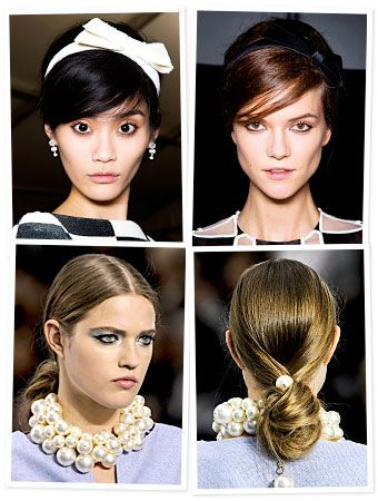 loving the hair from the Louis Vuitton show