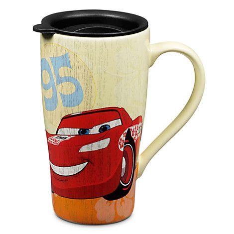 Lightning McQueen Ceramic Mug with Lid