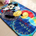 Child Lovely Mickey Mouse blue carpet environmental protection non-slip bedroom rug size 800MMX1200MM