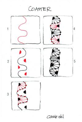 Coaster ~ Zentangle #tangle by #CertifiedZentangleTeacher Carole Ohl