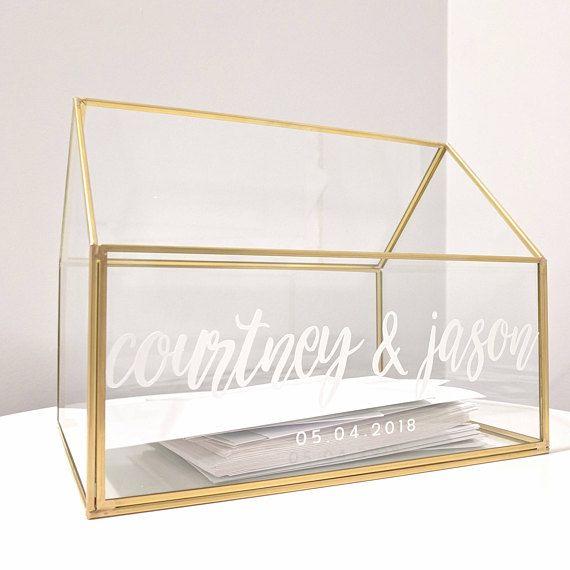Personalized Wedding Card Box Glass Card Box Wedding | details ...