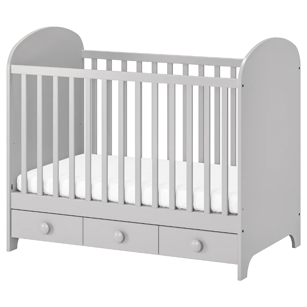 Gonatt Crib Light Gray 27 1 2x52 Quot Ikea In 2020 Ikea