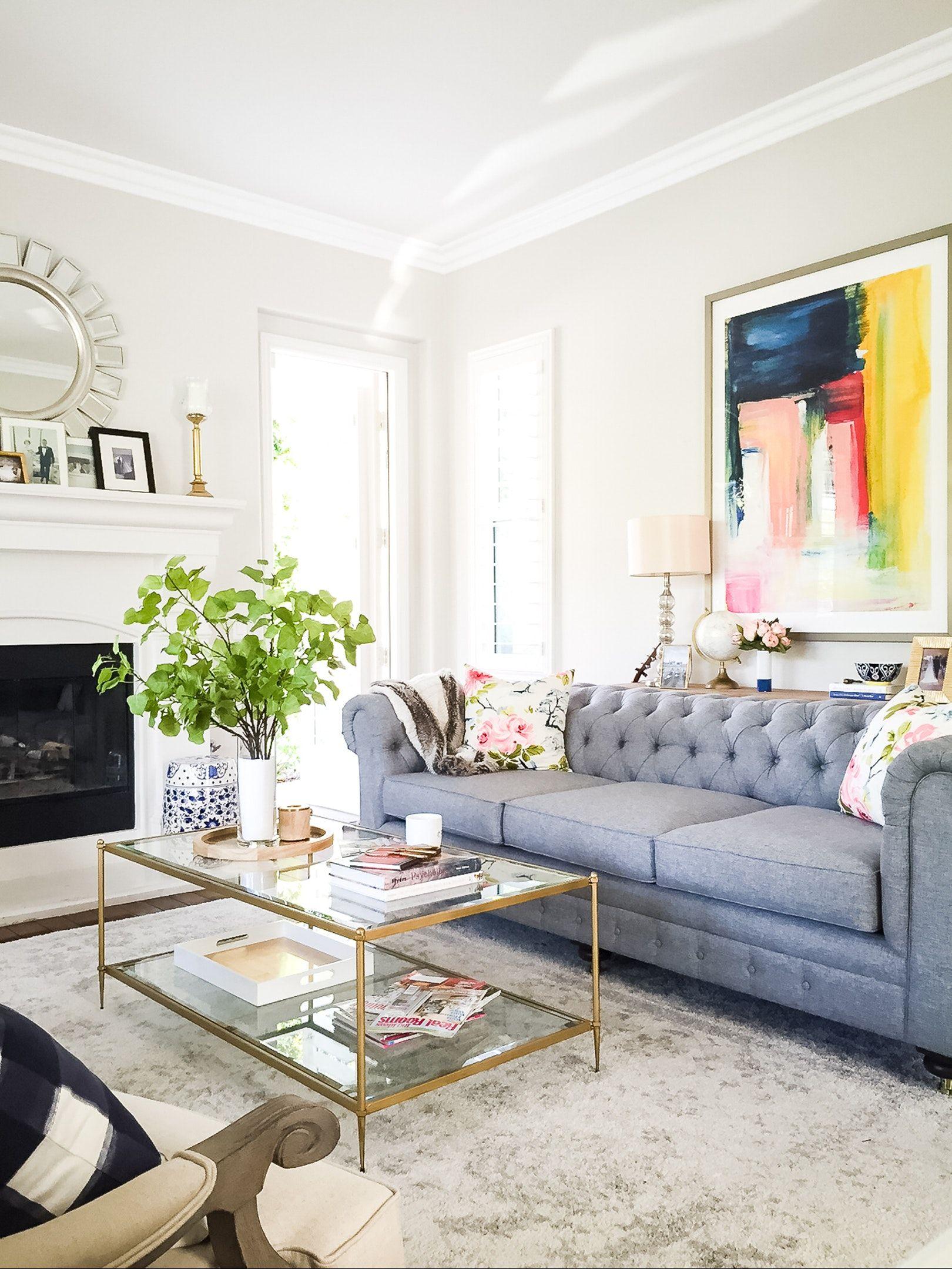 living room in blue%0A Morning light  http   liketk it  rXLp  liketkit  liketoknow