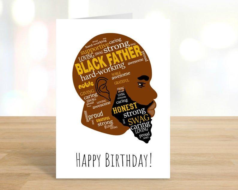 Printable Happy Birthday Card Black Man Black Lives Matter Etsy Happy Birthday Cards Printable Happy Birthday Cards Happy Birthday Black