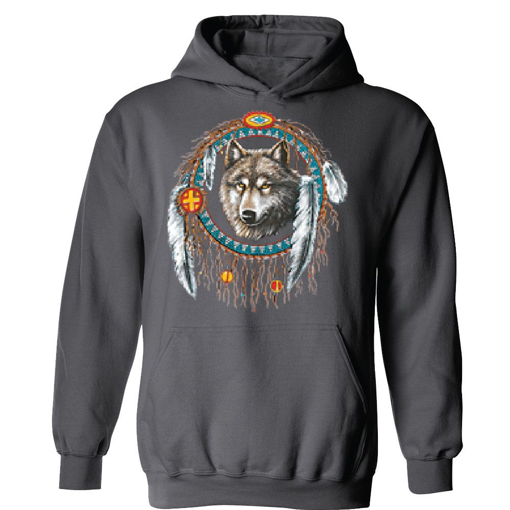 Dream Catcher Wolf Unisex Hoodie Hooded Native American Indian