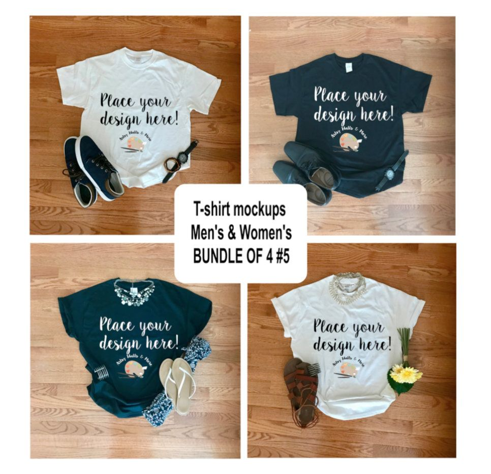 Download T Shirt Mockup Bundle Men S And Women S Tshirt Mockups Etsy Mockup Free Psd Free Packaging Mockup Tshirt Mockup