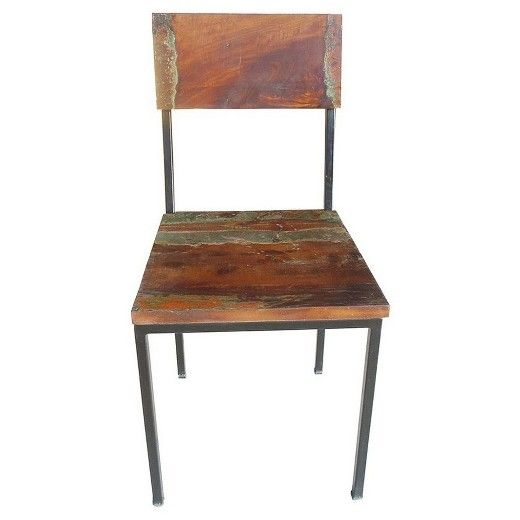 Set Of 2 Old Reclaimed Wood And Metal Chair Timbergirl Metal