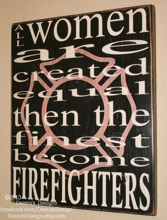Firefighter Wall Art female firefighter wall art w/ maltese silhouettedeenasdesign