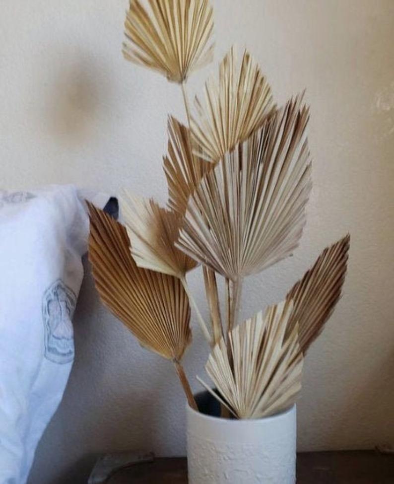 Dried Flower Palm Fan Leaf Large Bouquet Wall Hanging Home Ornament Art Decor