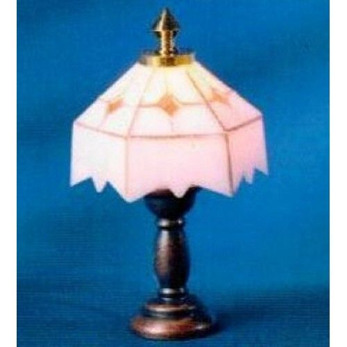 Dolls House Table Lamp Bronze U0026 White Miniature Electric Lighting