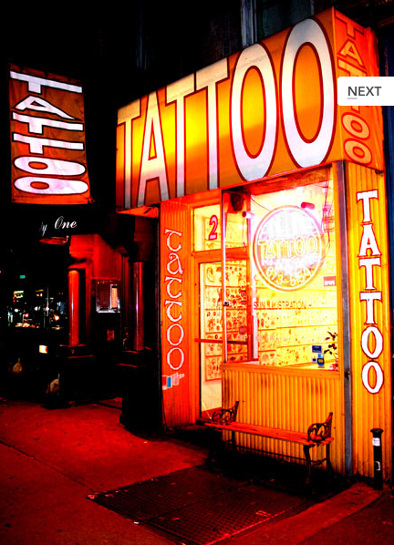 Tattooing and the classic cool of an old tattoo parlour