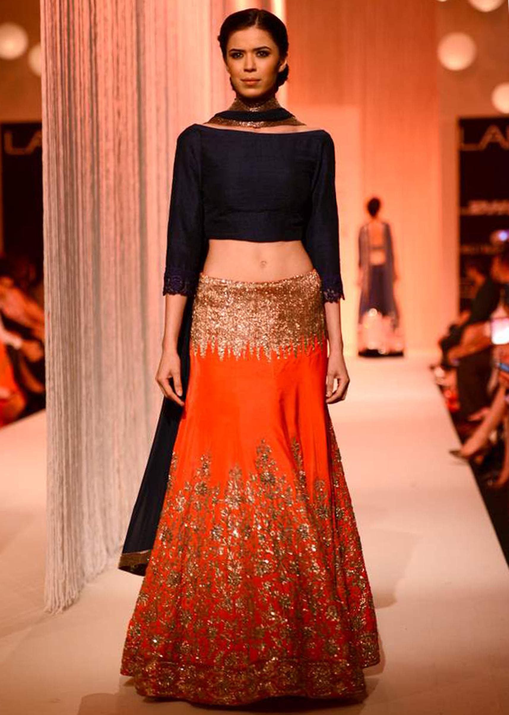 Manish Malhota collecton named Reflection at the lakme Fashion week Winter/Festival 2013 MM 132 - Kalkifashion.com