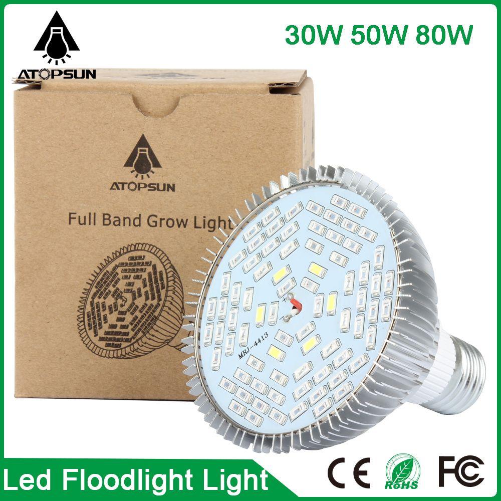 E27 50W LED Grow Light Full Spectrum for Indoor Veg Flower Plant Hydroponics DE