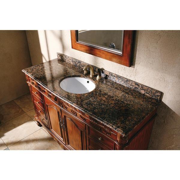 James Martin Classico 60-inch Single Granite Vanity Set - Overstock